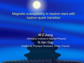 Magnetic susceptibility in neutron stars with hadron-quark transition