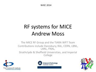 RF systems for MICE Andrew Moss