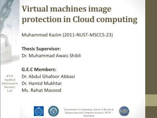 Virtual machines image protection in Cloud computing