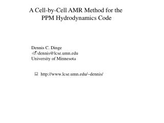 A Cell-by-Cell AMR Method for the  PPM Hydrodynamics Code