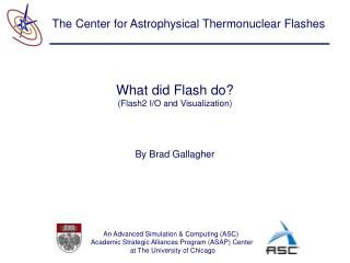 What did Flash do? (Flash2 I/O and Visualization)