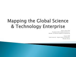 Mapping the Global Science & Technology Enterprise