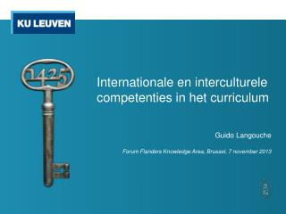 Internationale en interculturele competenties in het curriculum