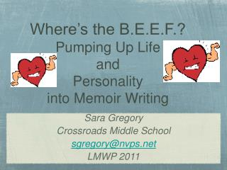 Where's the B.E.E.F.? Pumping Up Life  and  Personality  into Memoir Writing