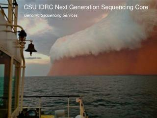 CSU IDRC Next Generation Sequencing Core Genomic Sequencing Services