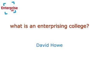 what is an enterprising college?