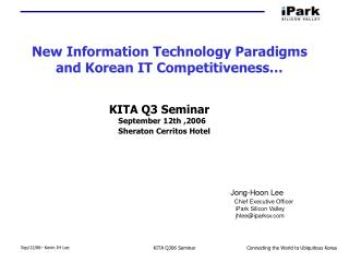 New Information Technology Paradigms and Korean IT Competitiveness…