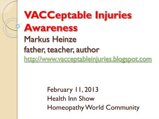 February 11, 2013 Health Inn Show Homeopathy World Community