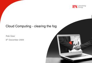 Cloud Computing - clearing the fog