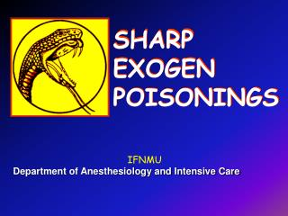 SHARP  EXOGEN  POISONINGS
