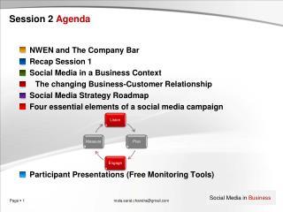 Session 2 Agenda