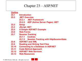 Chapter 23 – ASP.NET