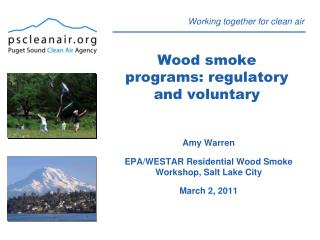 Wood smoke programs: regulatory and voluntary
