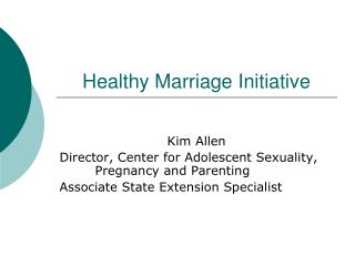 Healthy Marriage Initiative