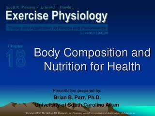 Body Composition and  Nutrition for Health