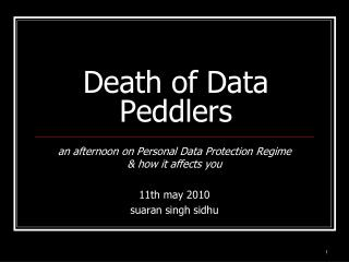 Death of Data Peddlers