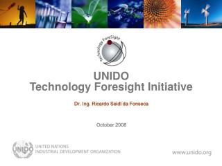UNIDO  Technology Foresight Initiative