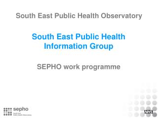 South East Public Health Observatory
