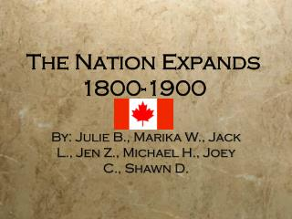 The Nation Expands 1800-1900