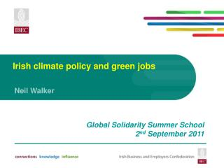 Irish climate policy and green jobs