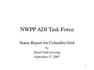 NWPP ADI Task Force