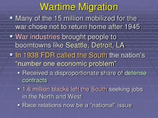 Wartime Migration