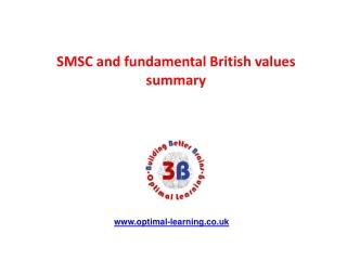 SMSC and fundamental British values summary