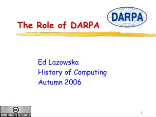 The Role of DARPA