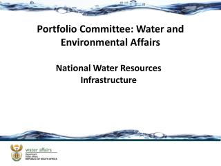 National Water Resources Infrastructure