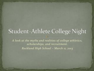 Student-Athlete College Night