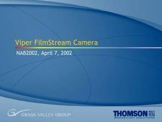 Viper FilmStream Camera