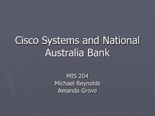 Cisco Systems and National Australia Bank