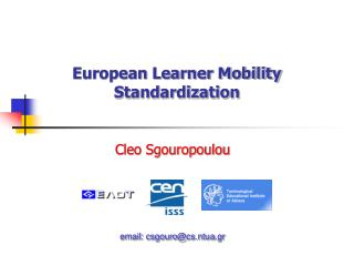 European Learner Mobility Standardization