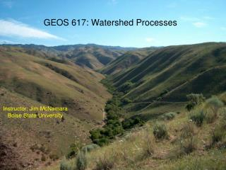GEOS 617: Watershed Processes
