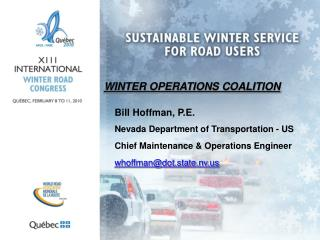 WINTER OPERATIONS COALITION