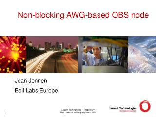 Non-blocking AWG-based OBS node