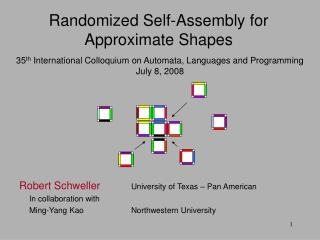 35 th  International Colloquium on Automata, Languages and Programming July 8, 2008