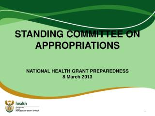 STANDING COMMITTEE ON APPROPRIATIONS