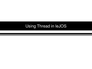 Using Thread in leJOS