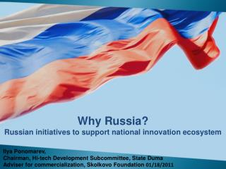Why Russia? Russian initiatives to support national innovation ecosystem