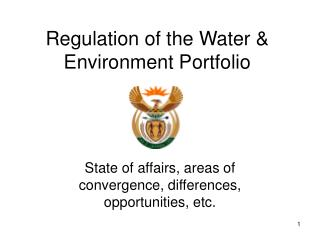 Regulation of the Water & Environment Portfolio