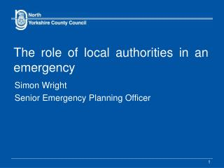 The role of local authorities in an emergency