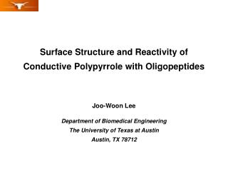 Joo-Woon Lee Department of Biomedical Engineering The University of Texas at Austin