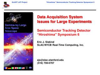 Data Acquisition System Issues for Large Experiments Semiconductor Tracking Detector