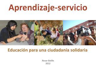 Educación para una ciudadanía solidaria