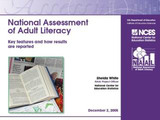 What is the 2003 National  Assessment of Adult Literacy (NAAL)?
