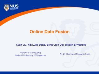 Online Data Fusion
