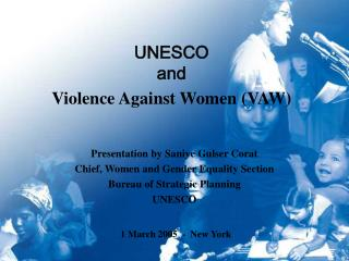 UNESCO  and Violence Against Women (VAW)