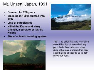 Mt. Unzen, Japan, 1991