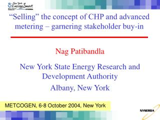 """Selling"" the concept of CHP and advanced metering – garnering stakeholder buy-in"